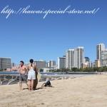 ハワイの海で遊ぶ